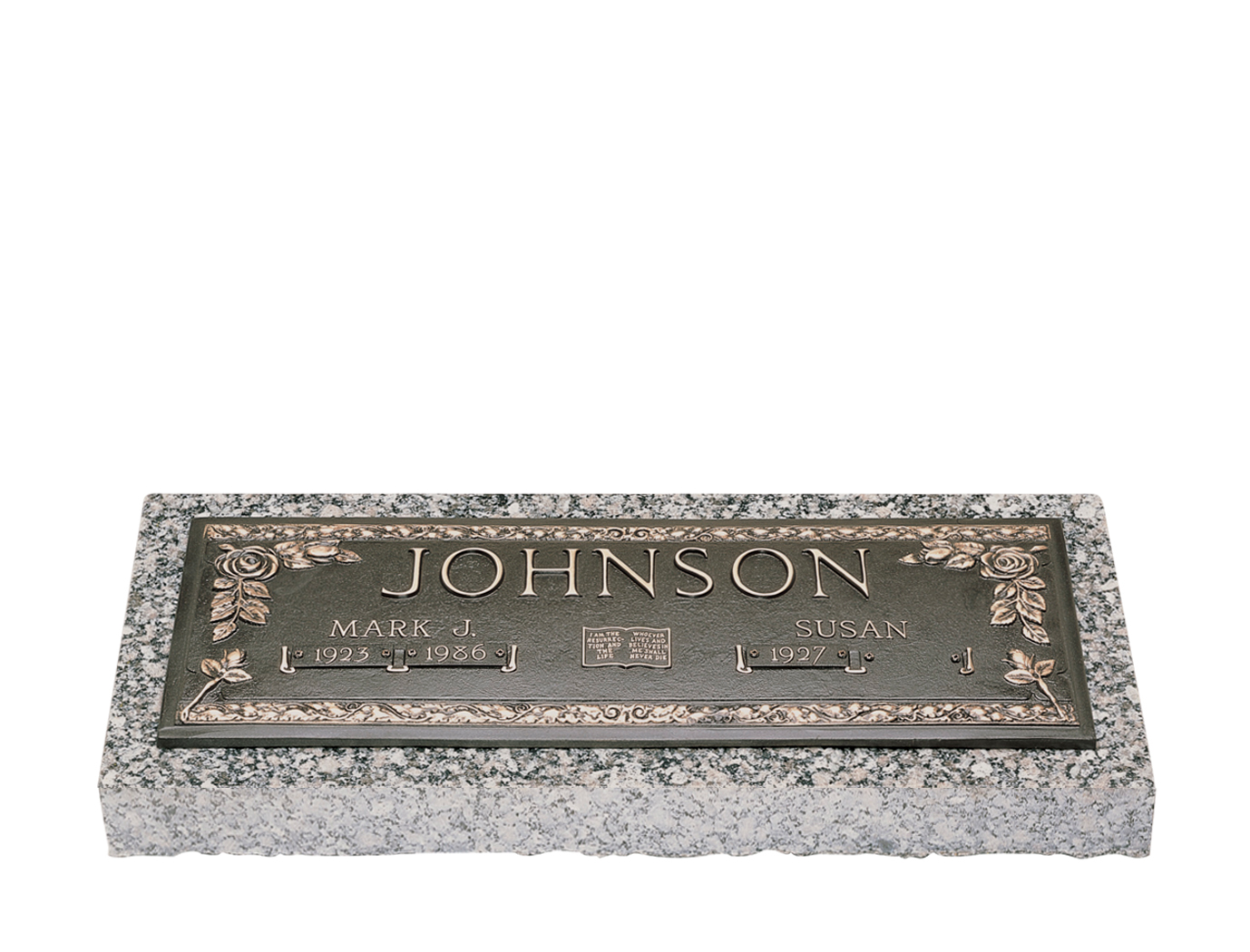 Granite Grave Markers With Vase Home Decor