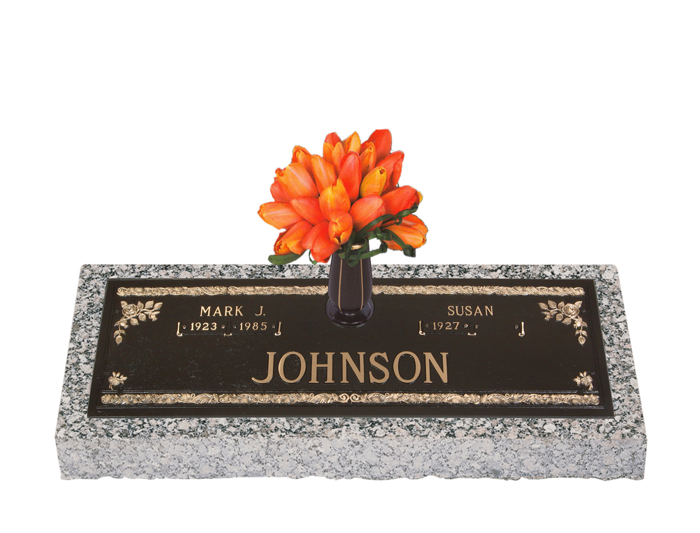 Companion bronze grave markers lovemarkers abbey rose with vase reviewsmspy
