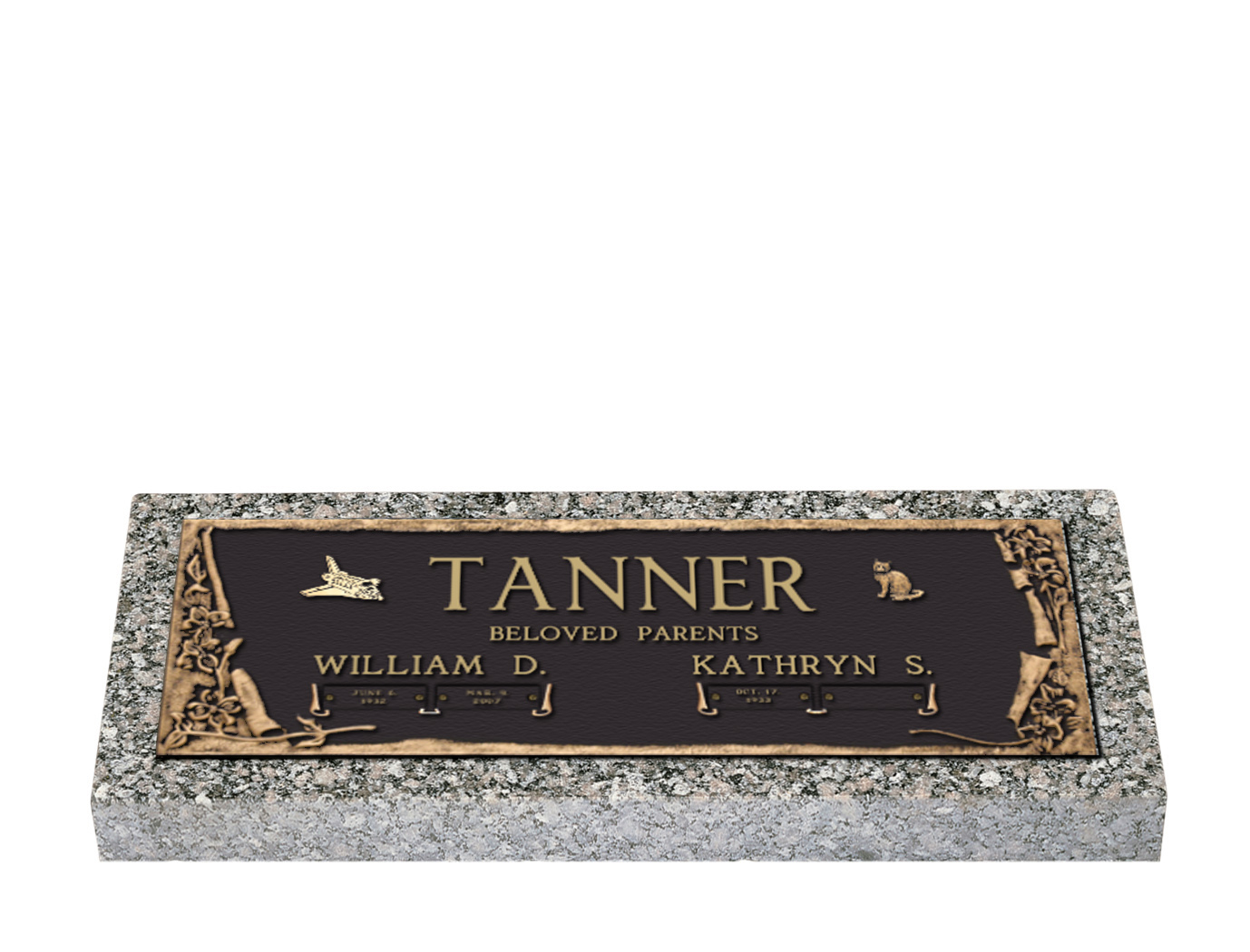 Bronze On Granite Grave Markers Pictures To Pin On