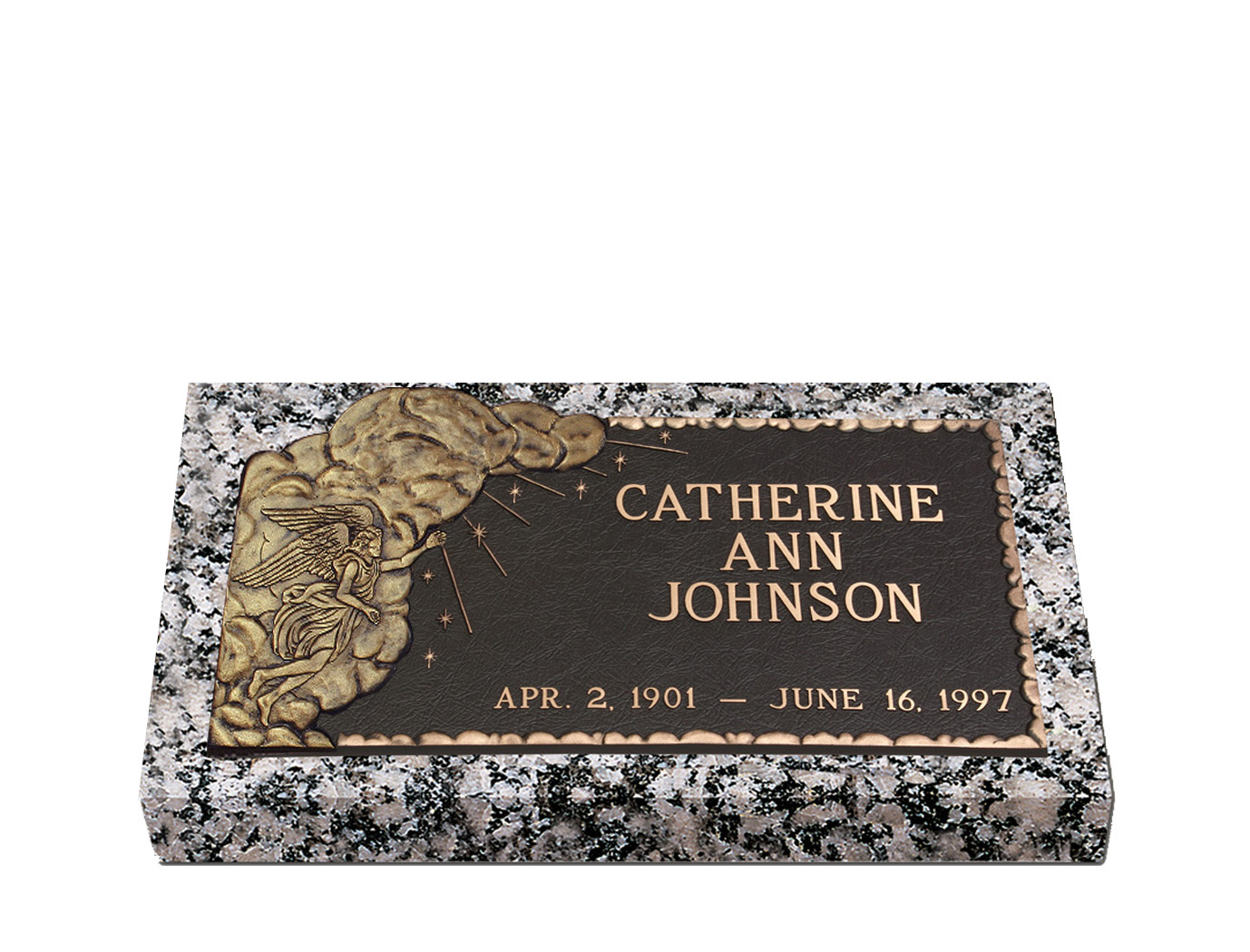 Devotions Ray Of Hope Bronze Grave Marker Lovemarkers Com