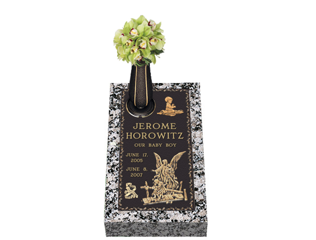 Guided Path Bronze Cemetery Grave Marker With Vase Lovemarkers
