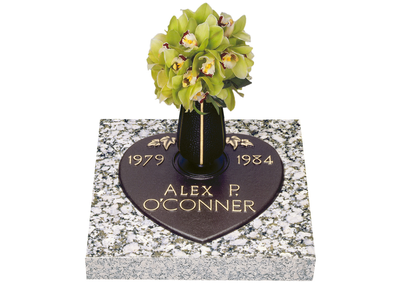 Infant bronze grave markers lovemarkers ivy heart with vase reviewsmspy
