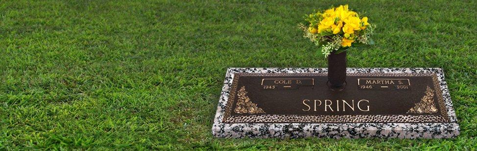 Granite Grave Markers With Vase Home Decor