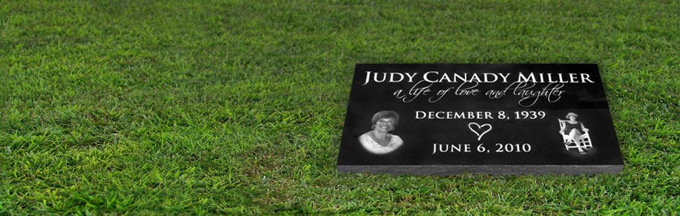 CUSTOM ETCHED GRANITE GRAVE MARKERS